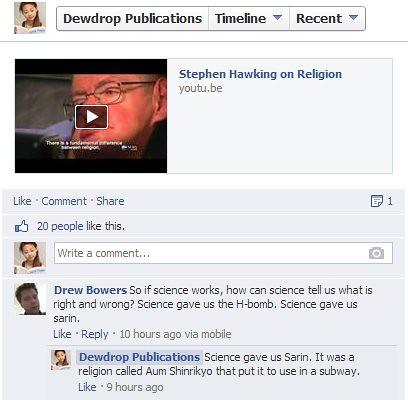religion of stephen hawking
