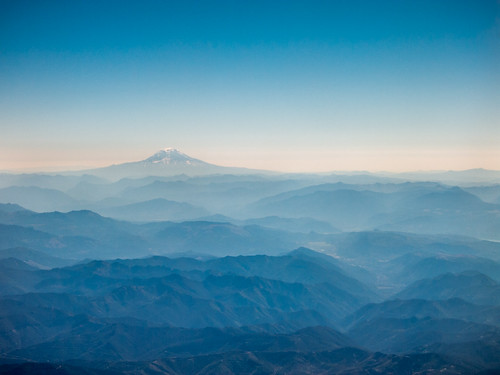 Hazy Blue over the Cascades