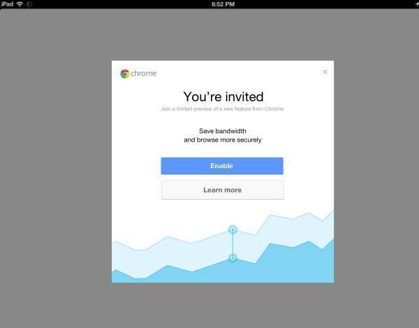 сжатие данных Chrome iOS