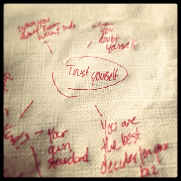 Forgot my notebook at home, so I mind mapped today's writing on a napkin. #makingdo
