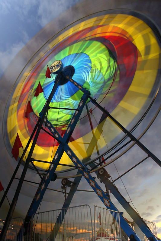 Coffee County Fair 2013: Astro Wheel at dusk