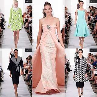 Oscar de la Renta, NY fashion week favorites