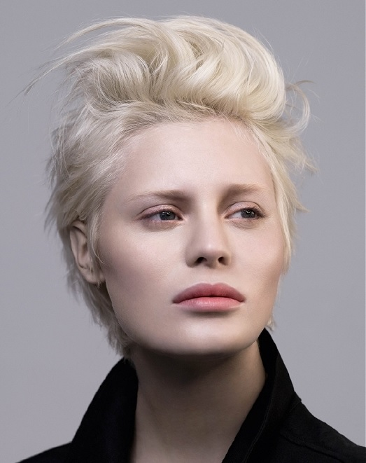 Short platinum hair by Jean Marc Joubert at Estetica via UKhairdressers
