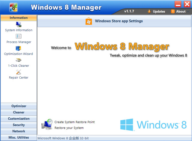 Windows 8 Manager v1.1.7