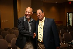 Anthony Lee and Willie Wyatt Jr., Auburn�s first African-American undergraduate students, discussed their experiences related to the integration of Auburn University at one of the opening events for Arts and Humanities Month on Oct. 1.