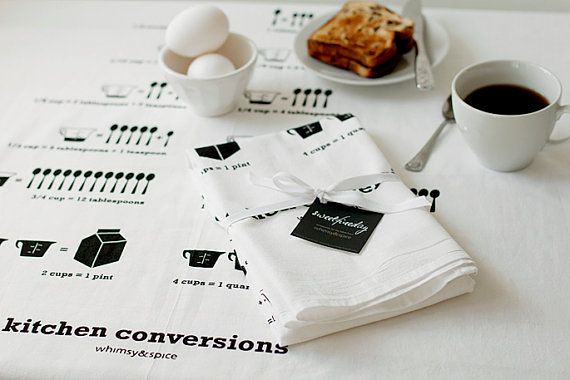 Kitchen conversions tea towel