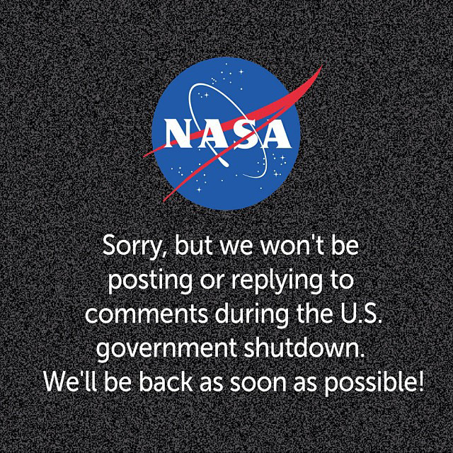 NASA Government shutdown