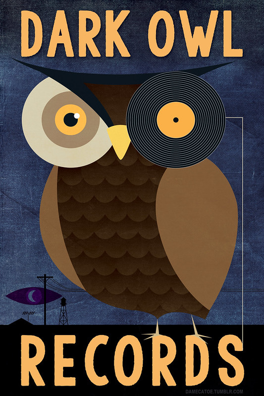 Faux logo for Dark Owl Records
