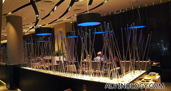 Perspex bamboo centrepiece