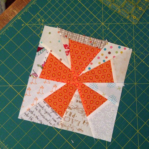 307:365 First block done. #schnitzelandboominiquiltswap #makeaquiltmakeafriend