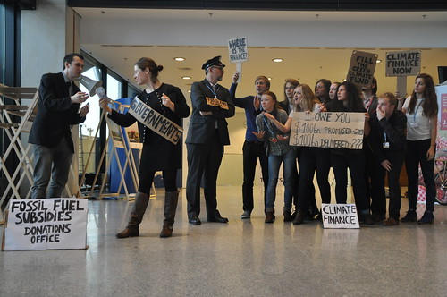 Climate Finance & Fossil Fuel Subsidies Stunt at COP19, Warsaw (20/11/2013)