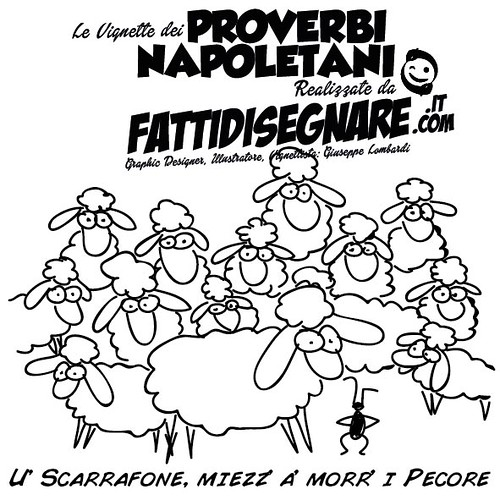 U' Scarrafone, miezz' a' morr' i Pecore by Giuseppe Lombardi