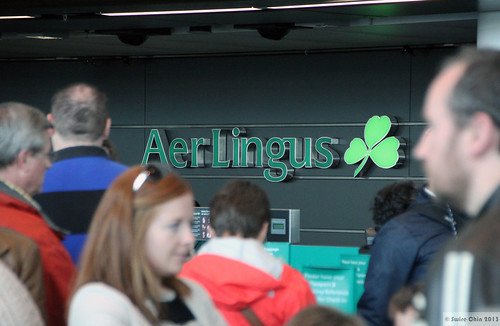 Aer Lingus check-in counters at Dublin Airport