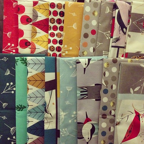 Charley Harper fabric arrived! So great!!