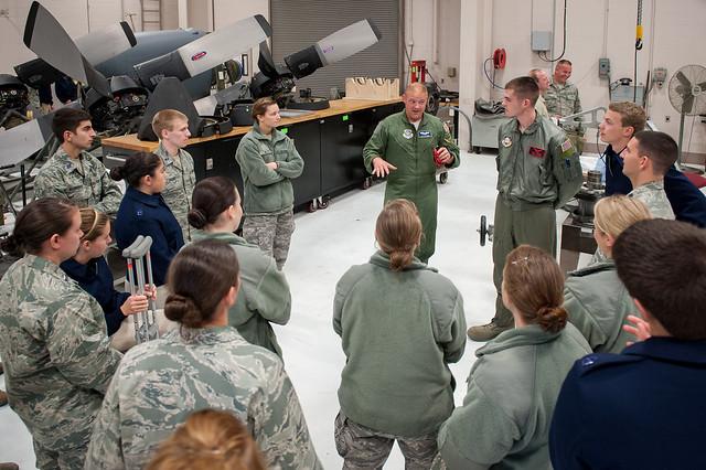 U of L Air Force ROTC cadets tour Kentucky Air Guard