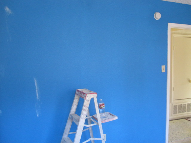 The walls are prepped & painted