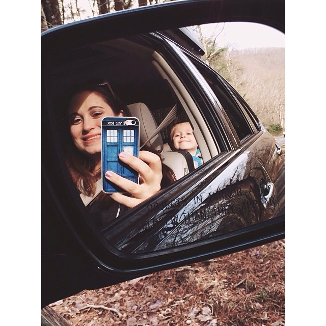 Mommy & Zachary in the #rearview #mirror! #pictapgo_app #driving #reflections #amicalolafalls #familyvacation