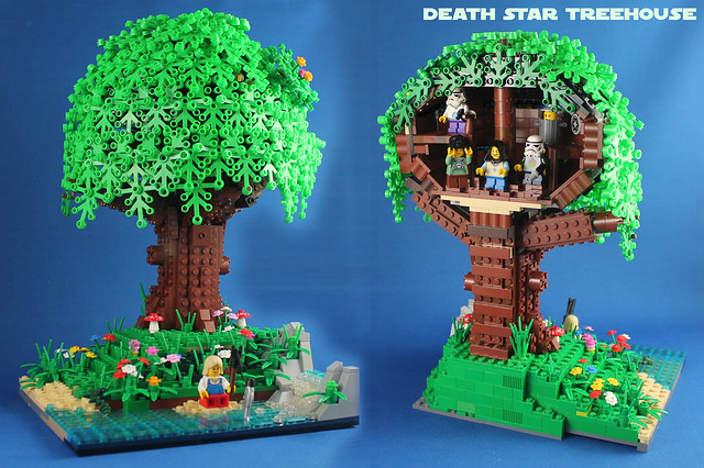 Death Star Treehouse front and back