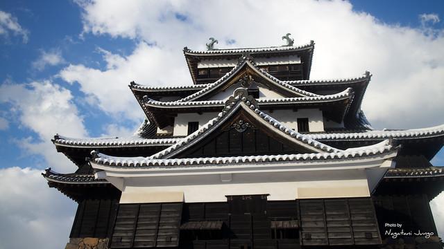 131228 雪の松江城 堀川遊覧船