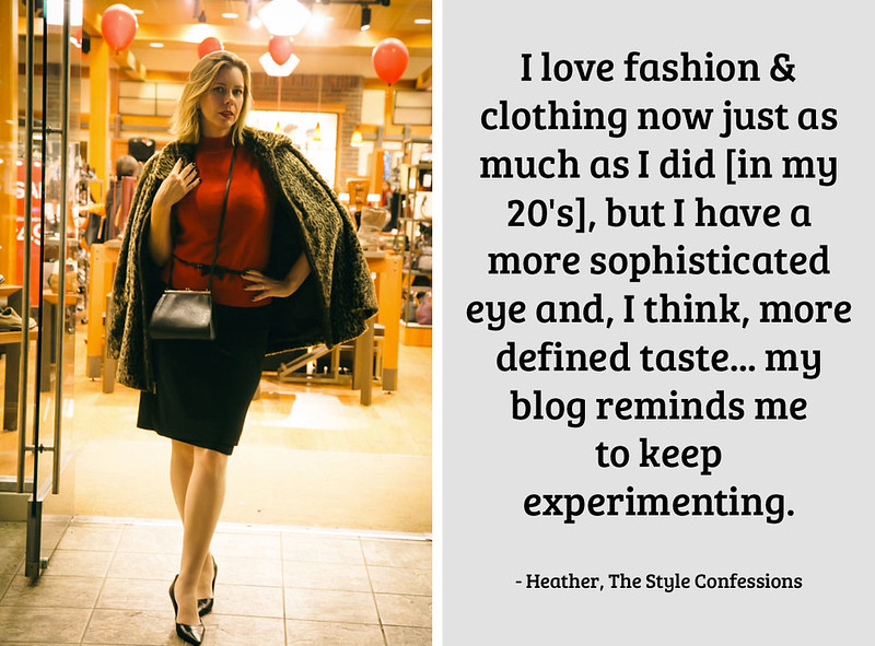 Heather, The Style Confessions on being a 40+ blogger