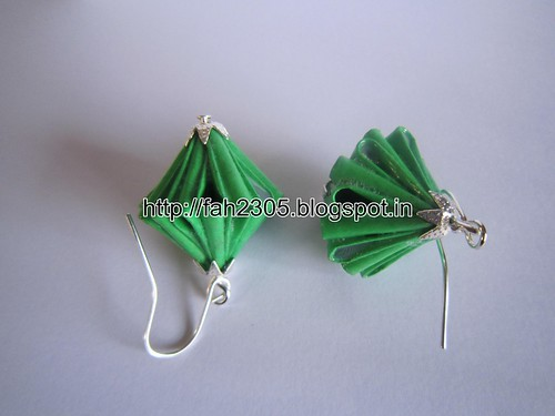 Handmade Jewelry - Origam Unit Diamond Paper Earrings (7) by fah2305