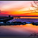 Red colour sunrise at Havre de Grace by skyadi65