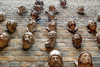 Faces on the wall