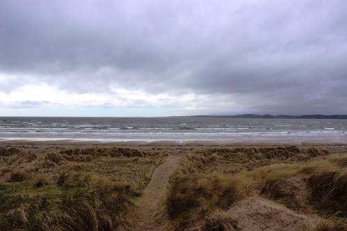ireland sea storm beach day waves path dunes codonegal murvagh