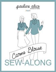 Carme blouse Sew-Along, pin tucks and yoke, bid blouse, tutorial