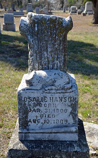 Woodmen of the World child's grave monument - Rosalie Hanson