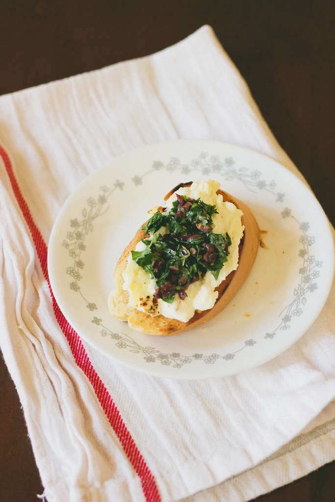 {baked ricotta with mediterranean gremolata} via chevrons & éclairs