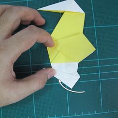 วิธีการพับกระดาษรูปม้าน้ำ (Origami Seahorse) 029