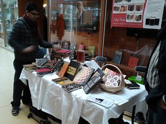 Volunteer Bishnu preparing the stall [UBC Fundraiser]