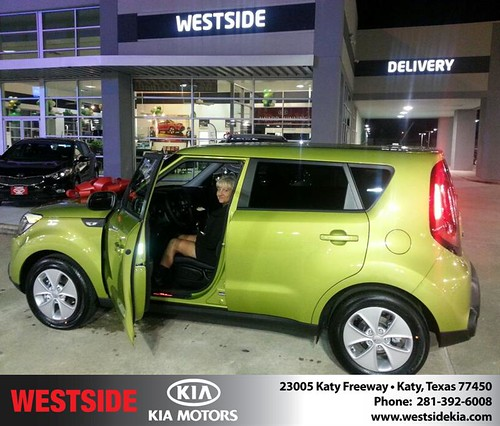 Thank you to Shirley Lindsay on your new 2014 #Kia #Soul from Rubel Chowdhury and everyone at Westside Kia! #NewCar by Westside KIA