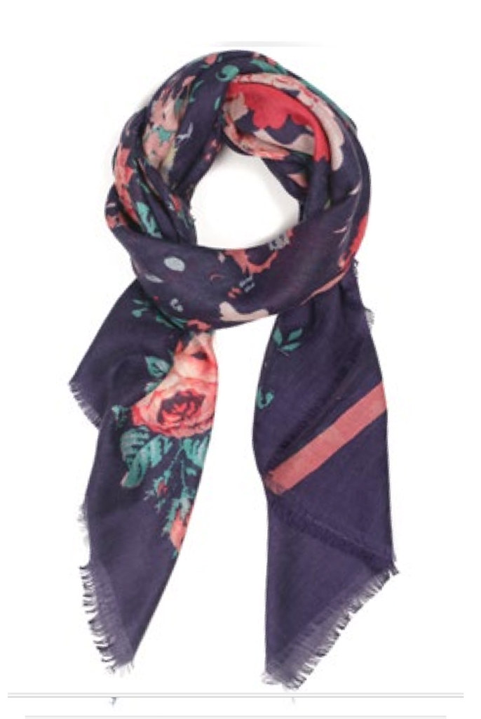 "Navy ""Sweet"" Scarf"
