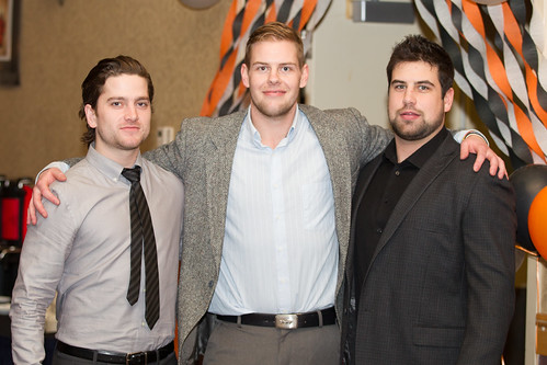 Hockey 5 th years-Kevin Nielsen, Travis Herlein and Blake Moynes (Apr 3, 2014 Snucins)