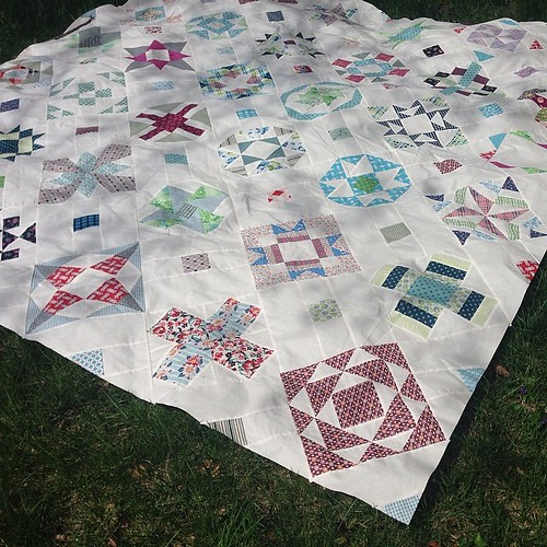 All finished! #ds #dsq #vintagequiltrevival #501rotarycutblocks #sampler
