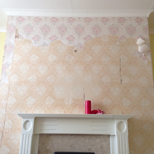 Stripping!  Wallpaper. Yuck!