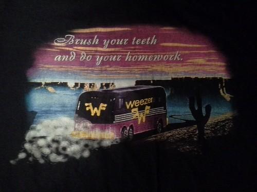 Weezer t-shirt (back)