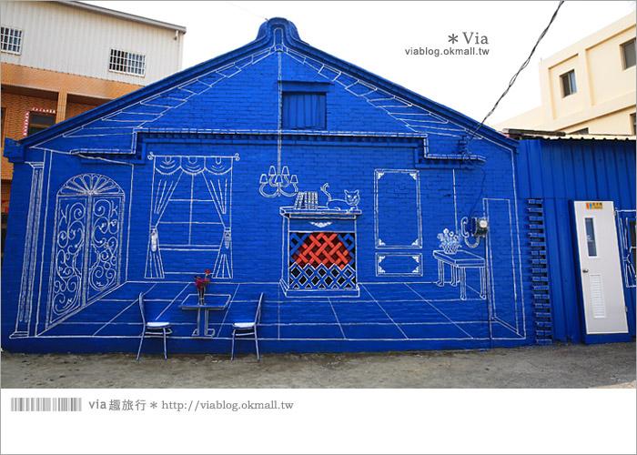 【彰化景點推薦】乳牛彩繪村(福寶村)~數百頭彩色小牛+夢幻藍晒圖的彩色村28