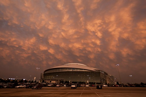 sunset arlington texas stadium storms