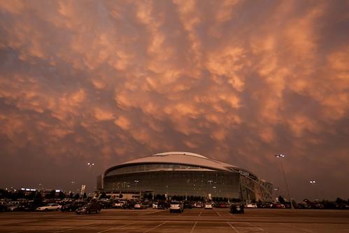 sunset arlington texas stadium storms