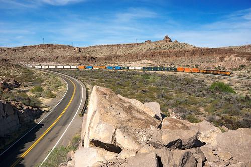 santa railroad arizona electric burlington rocks unitedstates desert general railway canyon fe northern ge bnsf chemin fer seligman kingman subdivision 5312 c449w