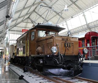 RhB Ge 6/6 I 411 , Rhätische Bahn, Rhätisches Krokodil | [DE] Deutsches Verkehrsmuseum München | 26.04.2014