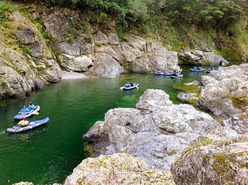 Rafting down the Pelorus River