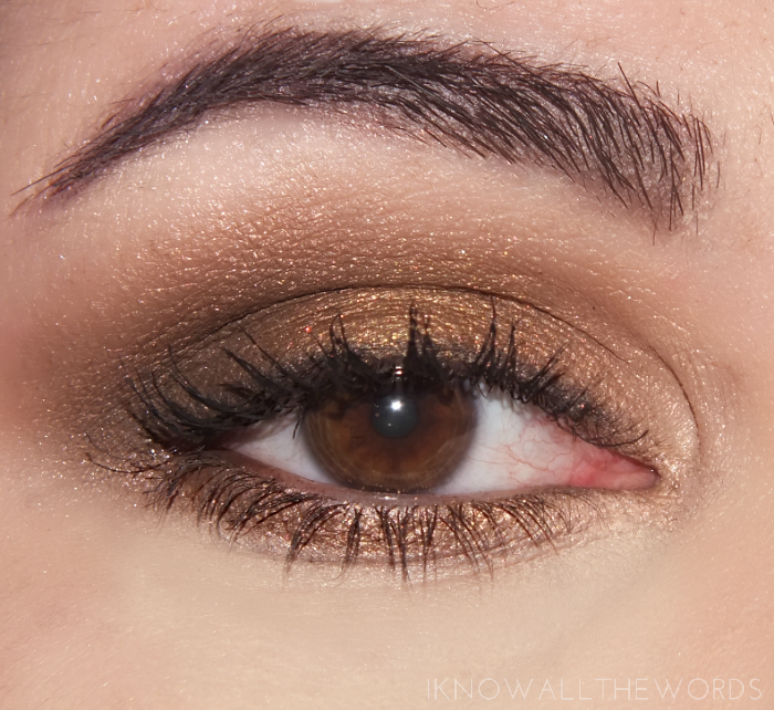 maybelline the nudes palette eye look