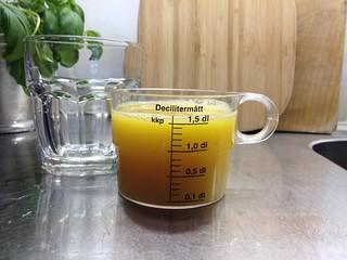 Ett glas juice innehåller ofta ca 1,5 dl.