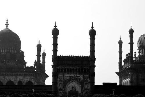 bw india tower silhouette flickr tomb mosque ka minarets adilshah deccan artarchitecture sultanate bijapur ibrahimrauza facebookpage pingsocial ibrahimshah
