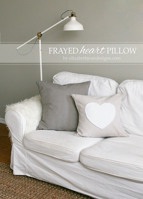 Frayed Heart Pillow