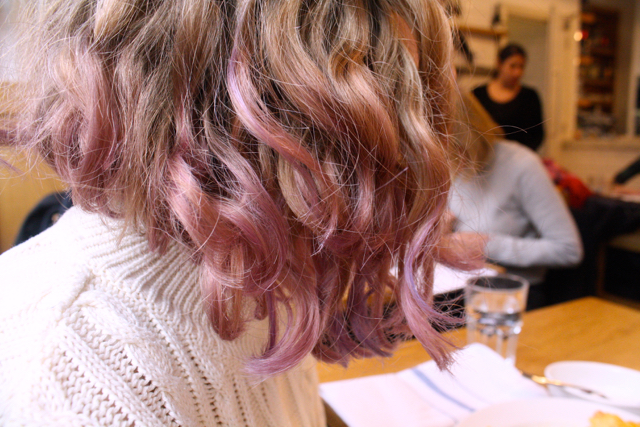 Dip dye pink/purple hair